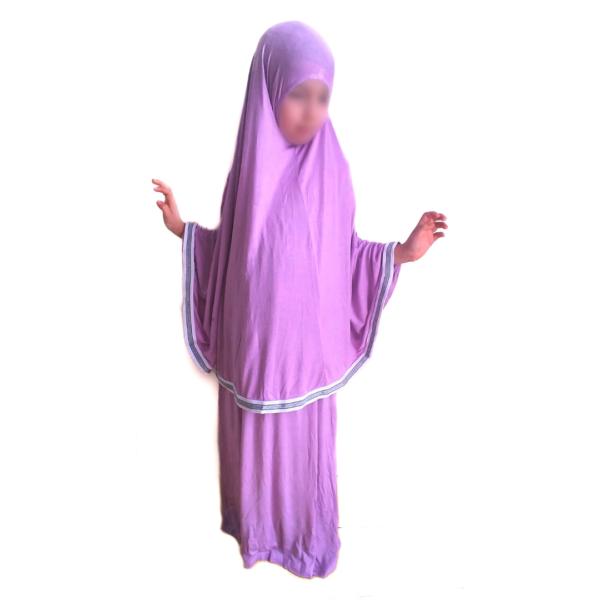ensemble de prière pour enfant mauve