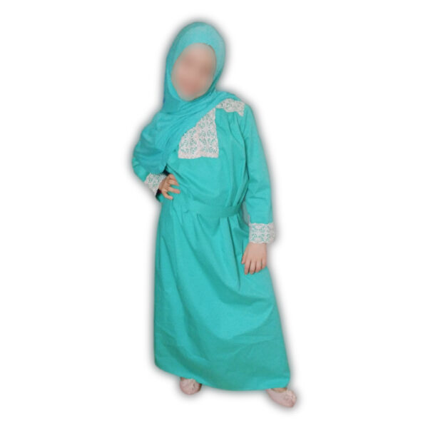 Abaya pour fille turquoise
