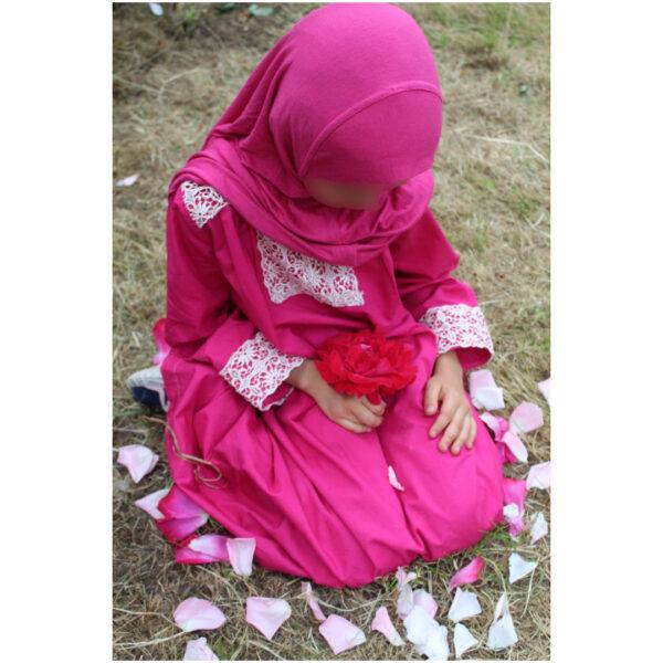 abaya pour fille rose